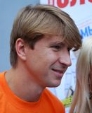 Olympische kampioen in kunstschaatsen Alexei Yagudin Stock Afbeeldingen