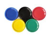 Olympische kleuren royalty-vrije illustratie