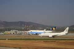 Olympische Luchtvaartlijnen Stock Afbeelding