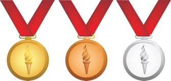 Olympische Medaillen stock abbildung