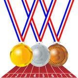 Olympische Medaillen Lizenzfreies Stockfoto