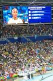 Olympische medaillewinnaar in de gebeurtenis van de vrouwen` s 200m sprint bij Rio2016-Olympics Royalty-vrije Stock Afbeelding