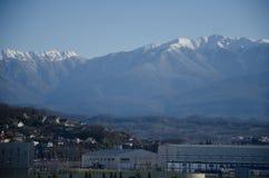 Olympische open plek, bergen stock fotografie
