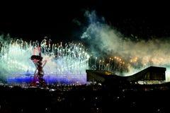 Olympische OpeningsCeremonie 2012 Stock Afbeeldingen