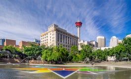 Olympische Piazza, Calgary Stockbild