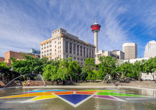 Olympische Piazza, Calgary Stockfotografie