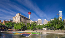 Olympische Piazza, Calgary Lizenzfreie Stockbilder