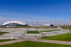 Olympische Piazza und der Eis Palast Stockfotografie