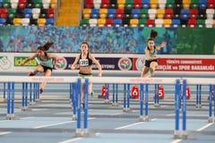Olympische Rekordversuchs-Innenrennen Stockbild