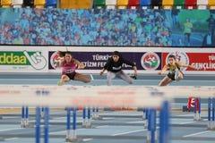 Olympische Rekordversuchs-Innenrennen Stockbilder