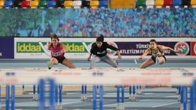 Olympische Rekordversuchs-Innenrennen Stockfoto
