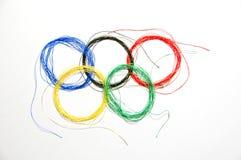 Olympische ring Stock Afbeeldingen