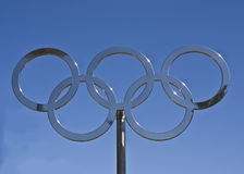 Olympische Ringe Stockfotografie