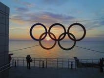 Olympische Ringe Stockfotos