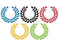 Olympische Ringe stock abbildung