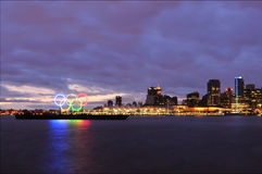 Olympische Ringe im Vancouver-Hafen Lizenzfreie Stockfotografie