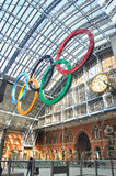 Olympische Ringe in London Stockfotos