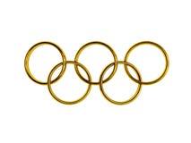 Olympische ringen Stock Afbeelding