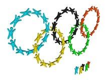 Olympische ringen Royalty-vrije Stock Fotografie