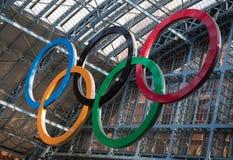 Olympische Ringen Londen 2012 Royalty-vrije Stock Afbeeldingen