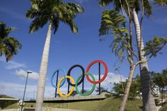 Olympische Ringen Rio 2016 Stock Foto