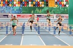 Olympische Schwellen-Innenwettbewerbe Stockfotografie