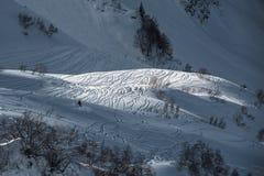 Olympische Skitoevlucht, Krasnaya Polyana, Sotchi, Rusland Royalty-vrije Stock Foto's