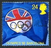 1992 Olympische Spelen Britse Postzegel Royalty-vrije Stock Afbeeldingen