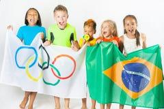 Olympische Spiele Rio de Janeiro Brasilien 2016 Lizenzfreie Stockfotos