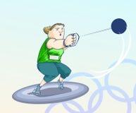 Olympische toons - Kugel Lizenzfreie Stockfotos