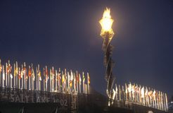 Olympische Toorts Stock Fotografie