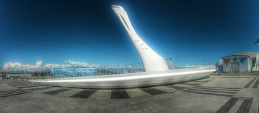 Olympische toorts Royalty-vrije Stock Afbeelding