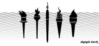 Olympische toorts Stock Afbeelding