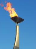 Olympische toorts Stock Foto