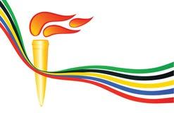Olympische toorts Stock Afbeeldingen