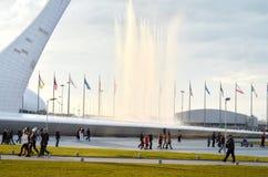 Olympische Toorts in Sotchi, Rusland Royalty-vrije Stock Afbeelding