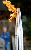 Olympische toortsen Stock Afbeeldingen