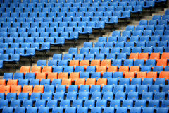 Olympische tribunezetels Stock Foto's