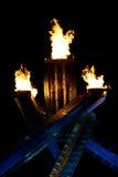 Olympische vlam Stock Fotografie