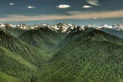 Olympische waaier en valleien stock foto