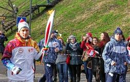 Olympischer Fackellauf Stockbilder