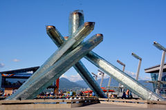 Olympischer großer Kessel 2010 Lizenzfreies Stockfoto