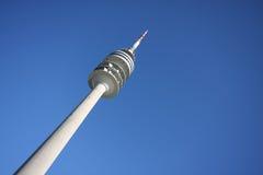 Olympischer Kontrollturm in München stockfoto