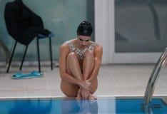 Olympischer Medaillengewinner Ona Carbonell vor Ausstellung in Mallorca Stockfotos