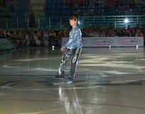 Olympischer Meister in der Abbildung Eislauf Alexei Yagudin. Stockfoto