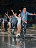 Olympischer Meister in der Abbildung Eislauf Alexei Yagudin. Lizenzfreie Stockfotografie