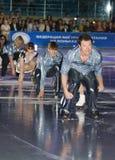 Olympischer Meister in der Abbildung Eislauf Alexei Yagudin. Lizenzfreies Stockbild