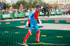 Olympischer Meister Evgeny Ustyugov Lizenzfreie Stockbilder