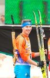 Olympischer Meister Evgeny Ustyugov Stockbilder