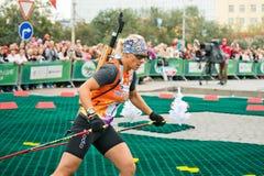 Olympischer Meister Olga Zaitseva Lizenzfreie Stockfotos